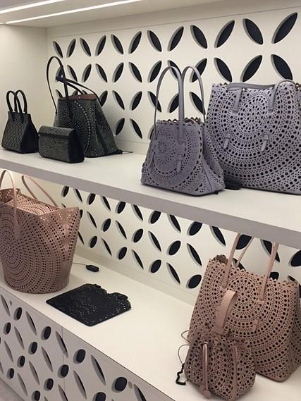 Alaia handbags at Selfridges Oxford Street Spring 2017