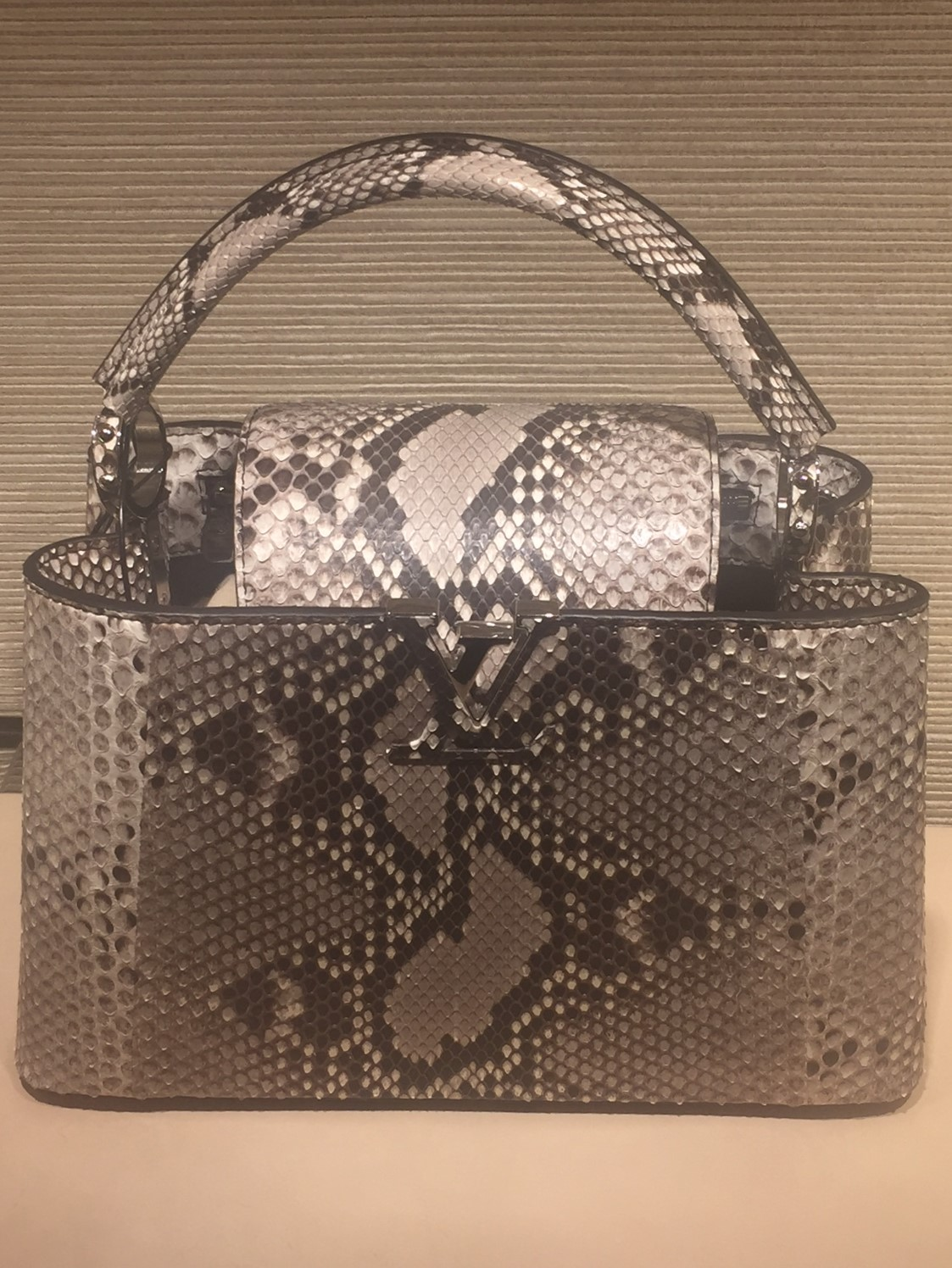 Louis Vuitton snakeskin handbag SS17