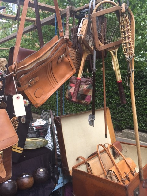 Leather handbags at Portobello Road Market London