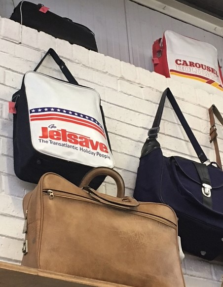 Absolute Vintage flight tote bags