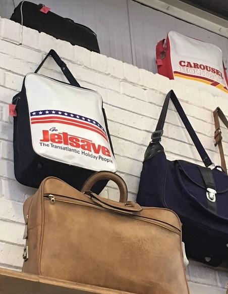 Absolute Vintage flight tote bags