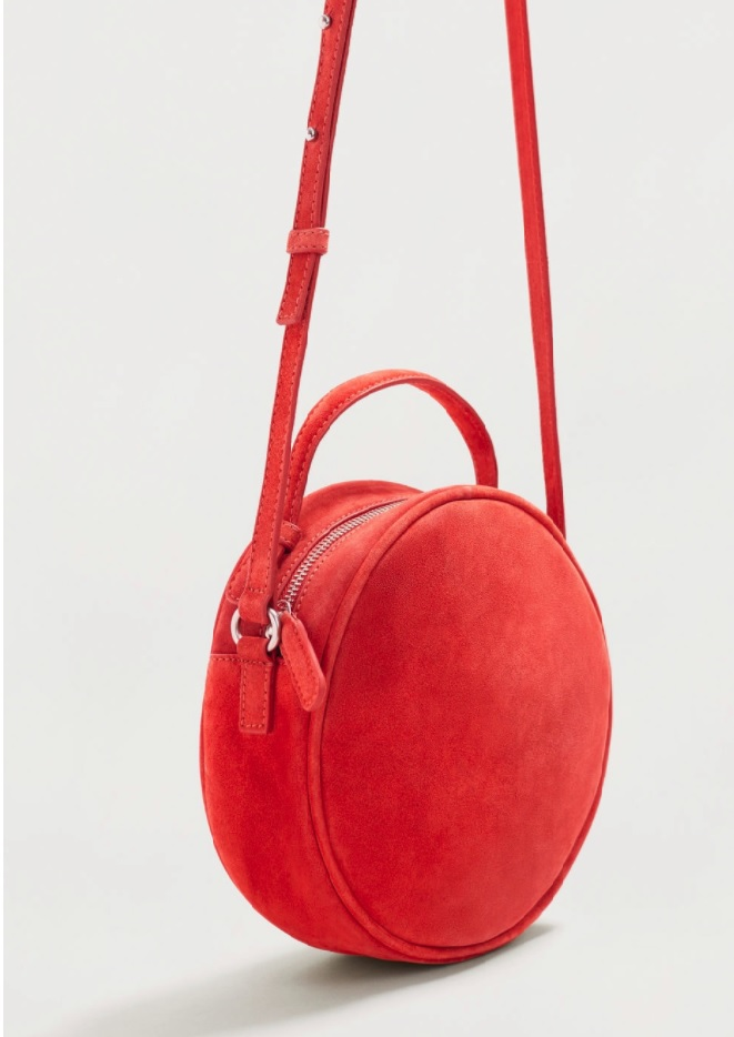 Red suede shoulder bag from Mango and it's below £100