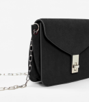 Mango suede chain crossbody bag