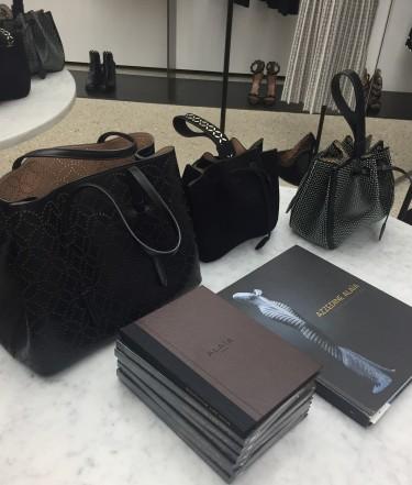 Alaia leather laser cut handbags