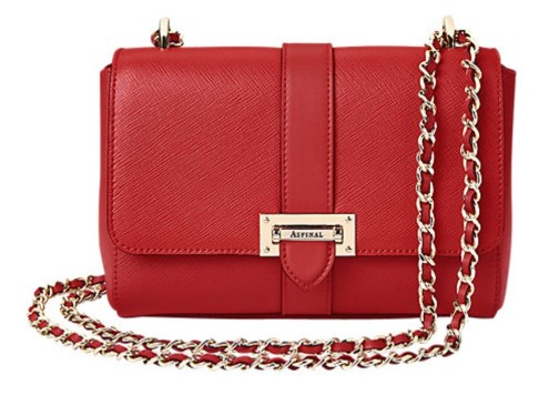 Aspinals of London lottie red leather bag