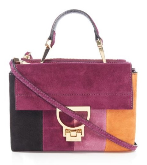 Coccinelle multi coloured suede crossbody bag