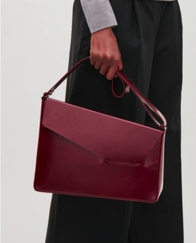 Cos asymmetrical leather shoulder bag