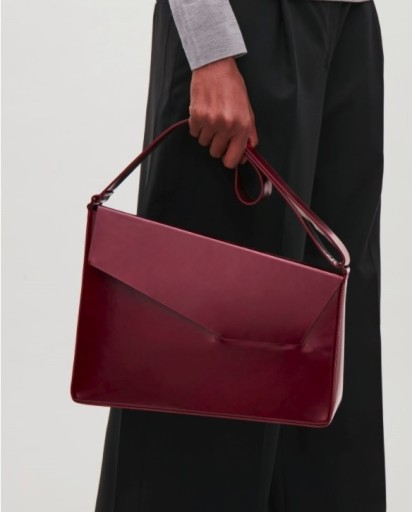 Cos leather asymmetrical shoulder bag