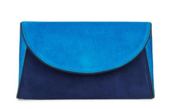 Diane von Furstenberg blue clutch bag