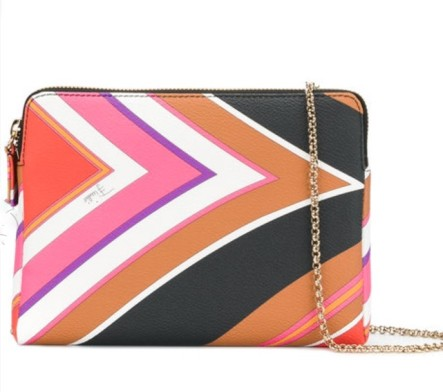 Emilio Pucci patterned evening shoulder bag