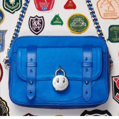 Hill and Friends blue shoulder bag