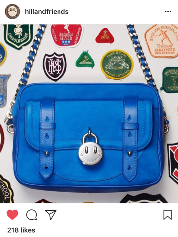Hill and Friends blue shoulder bag
