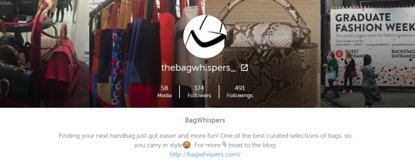 Bagwhispers on instagram