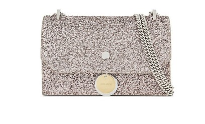 Jimmy Choo silver glitter bag