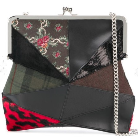 Comme des Garcons patchwork shoulder bag
