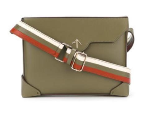 Manu Atelier striped shoulder strap handbag