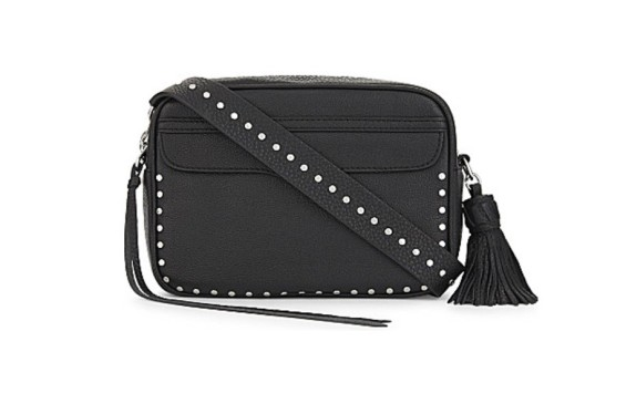 Rebecca Minkoff black studded leather bag