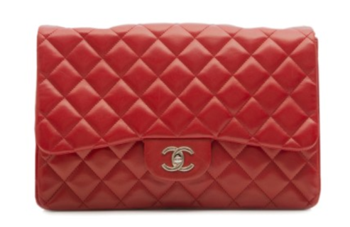 Chanel red quilted shoulder bag from Rewind