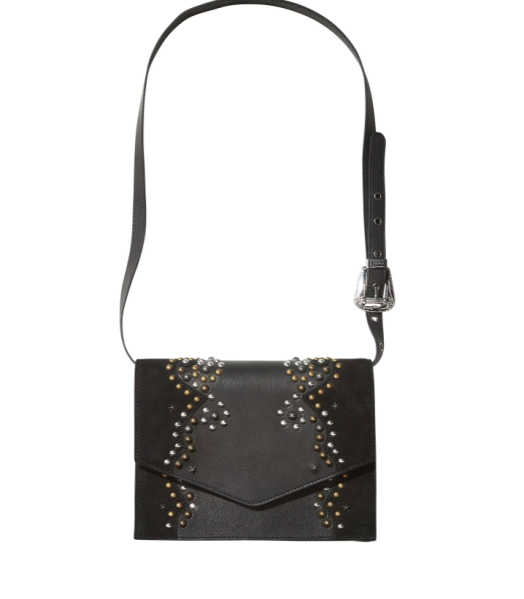 Scotch and Soda Suede and Studded Leather Bag