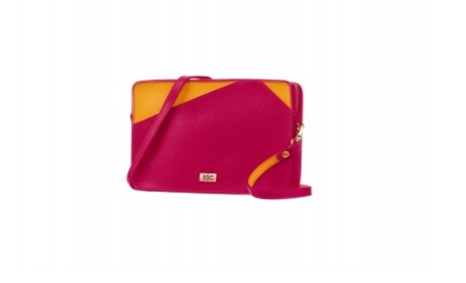 Stacy Chan London fuschia pink mini bag