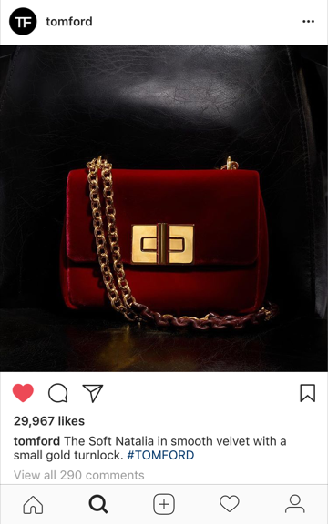 Tom Ford velvet shoulder bag