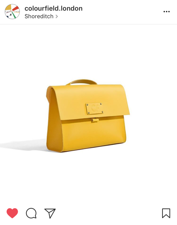 Buy British Day - Colourfield yellow satchel backpack