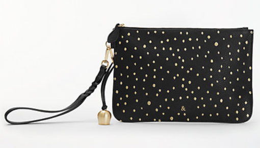 Bell & Fox pebble leather embroided clutch bag