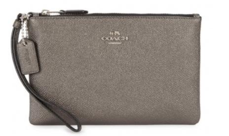 Coach gunmetal leather wallet
