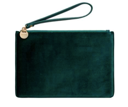 Hallhuber velvet clutch bag at House of Fraser