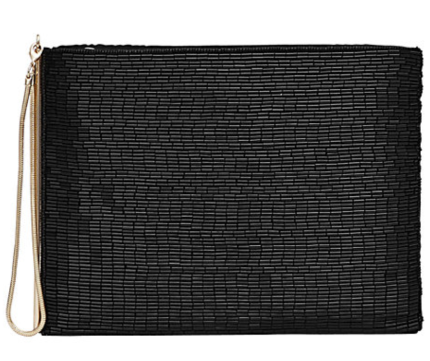Reiss Christy beaded clutch bag