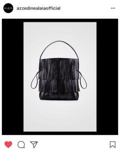 Alaia fringe handbag