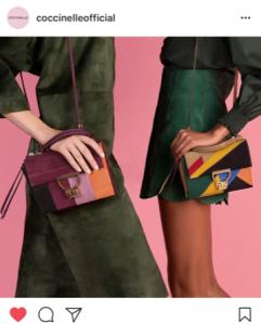 Multi tone and colour handbags