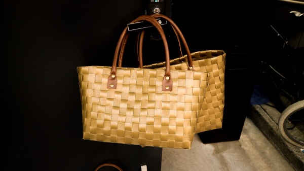 Casual summer fashion fibres - woven bag