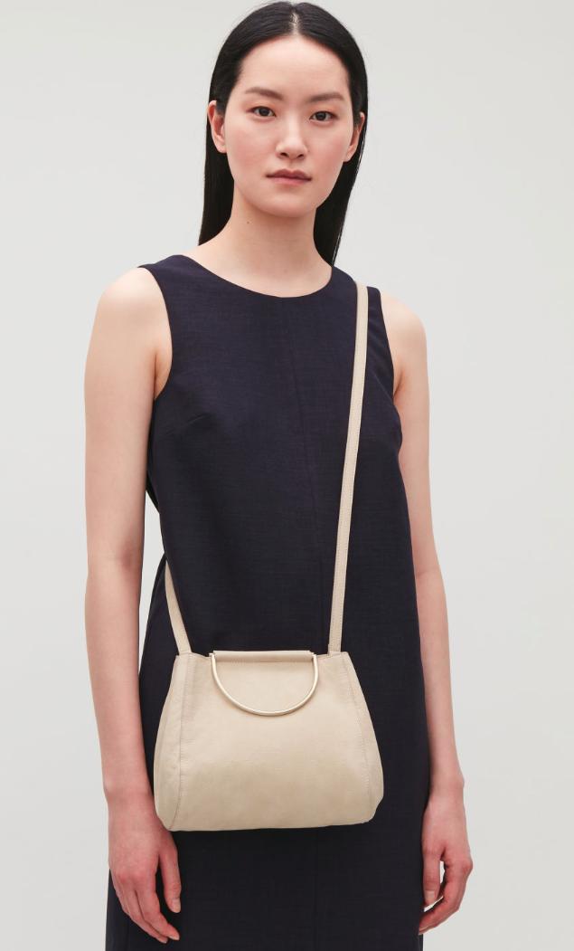 Cos D Ring Leather Shoulder Handbag