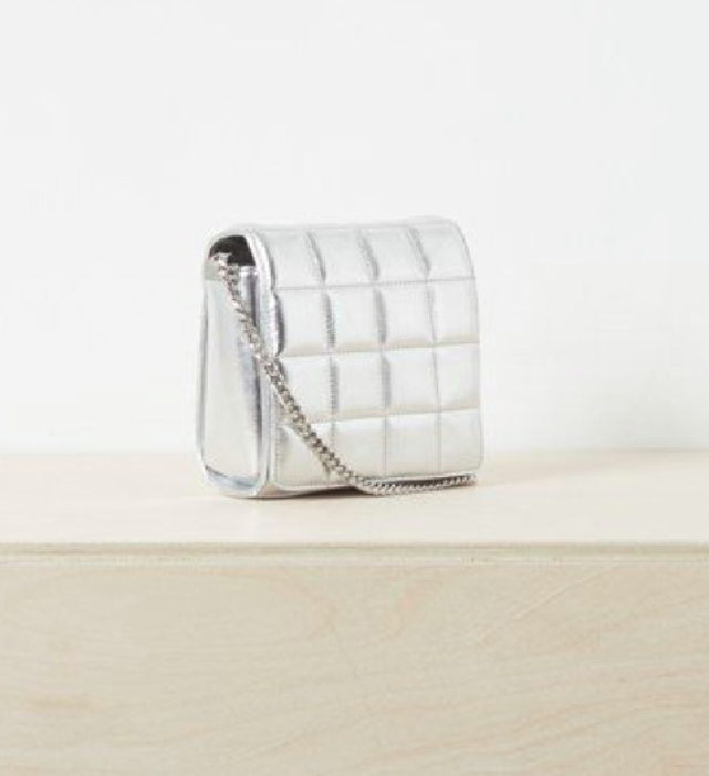 French Connection Raw Mini Quilted Crossbody bag