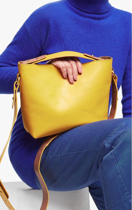 John Lewis Paige Leathe Mini Top Handle Bag