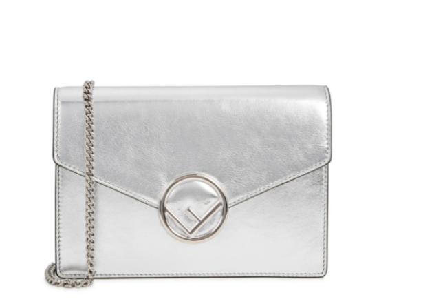 Fendi Kan I F silver bag