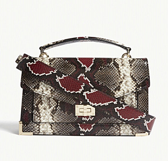 The Kooples Emily Python Embossed bag