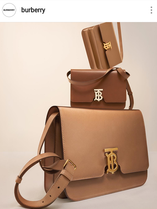Neutral brown fashion bags for Spring and Summer 2019 which would not be complete without Burberry and its collection