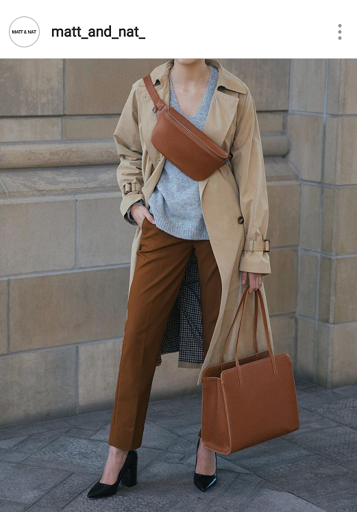 From Matt and Nat in Canada.   Natural brown fashion bags for Spring and Summer 2019 with sustainable materials.