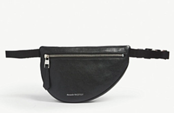 New season fashion bags for Spring and Summer 2019 which include the belt bags.  Designer Alexander McQueen offers the stand out asymmetrical design, available at Selfridges.
