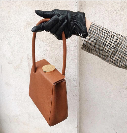 SS19 fashion bags in-store and online now including a vintage styled handbag from Little Liffner in golden brown colour