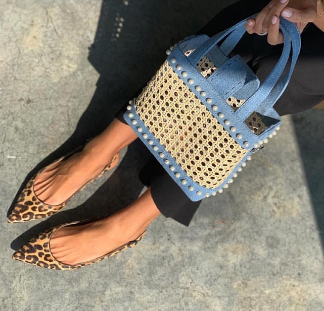 SS19 fashion bags instore and online now including the rattan bag Mini Fey from Mehyr Mu.