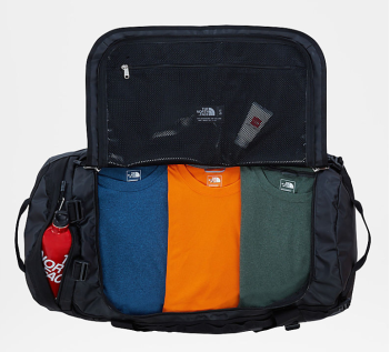 North Face Base Camp duffle bag interior