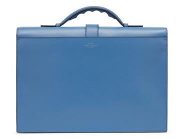 Smythson Grosvenor slim briefcase reverse