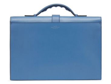 Smythson Grosvenor slim briefcase reverse