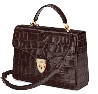 Croc effect Mayfair bag from Aspinal of London