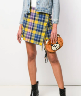 Soft and cuddly teddy bear clutch from Moschino