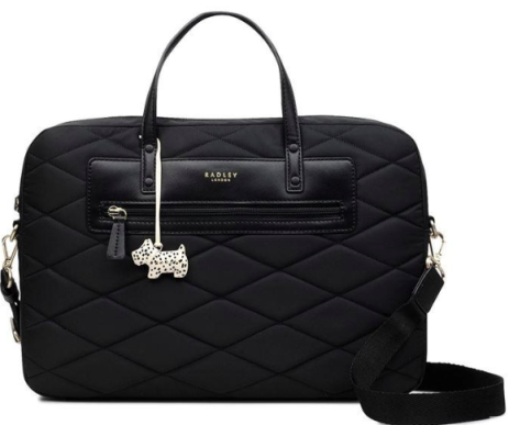 Quilted effect laptop bag by Radley