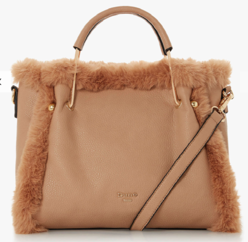 Dune Dteddy Faux Fur tote bag £80